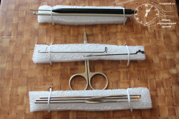 Органайзер для вязальных крючков своими руками